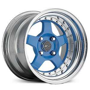 MSR 229  Wheels Polished with Blue center
