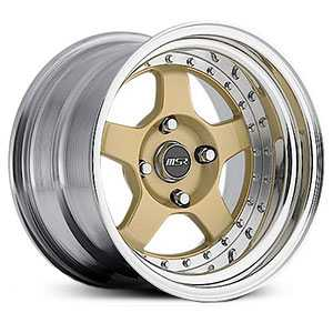 MSR 229  Wheels Polished with Gold center