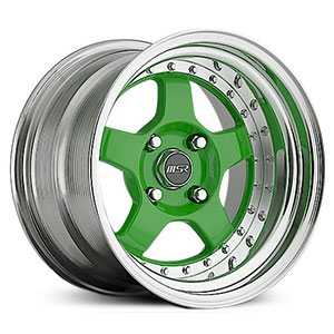 MSR 229  Wheels Polished with Green center