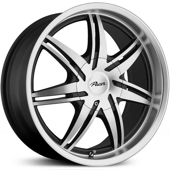 Pacer 773MB Mantis  Rims Diamond Cut Face w/ Gloss Black Accents