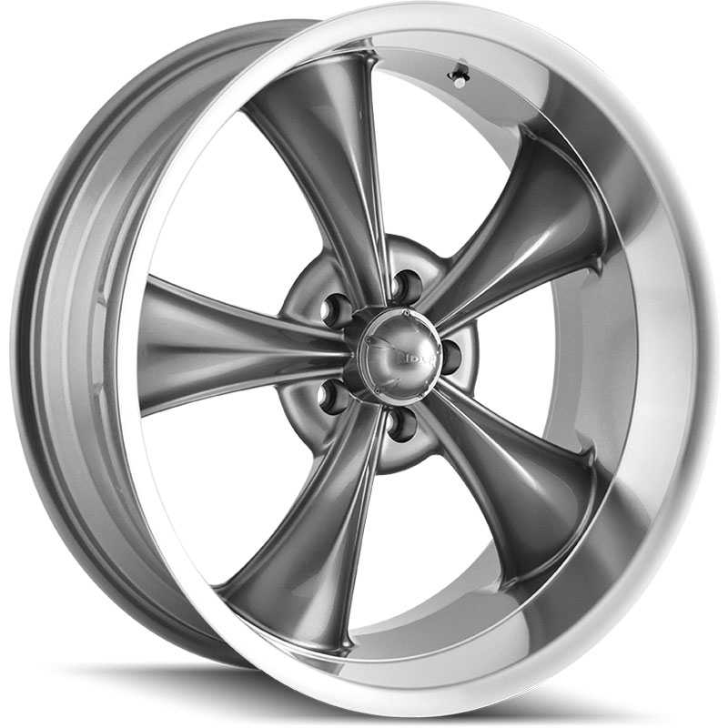 Ridler 695  Wheels Grey w/ Machined Lip