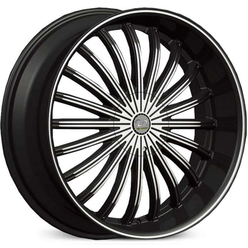U2 029  Wheels Black Machined Face