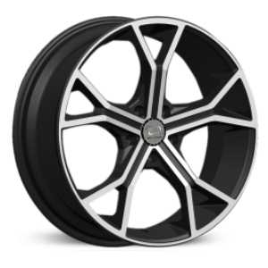 U2 032  Wheels Black Machined Face