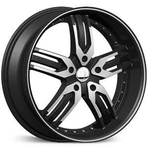 Velocity 125A  Wheels Black Machined
