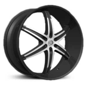 Velocity 926  Wheels Black Machined Milled Lip