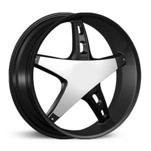 Velocity 930  Rims Black Machined w/ Chrome Insert