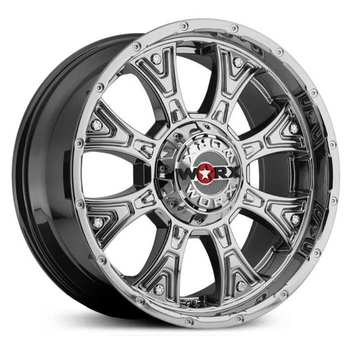 Worx Alloy 805V Tyrant  Wheels Chrome