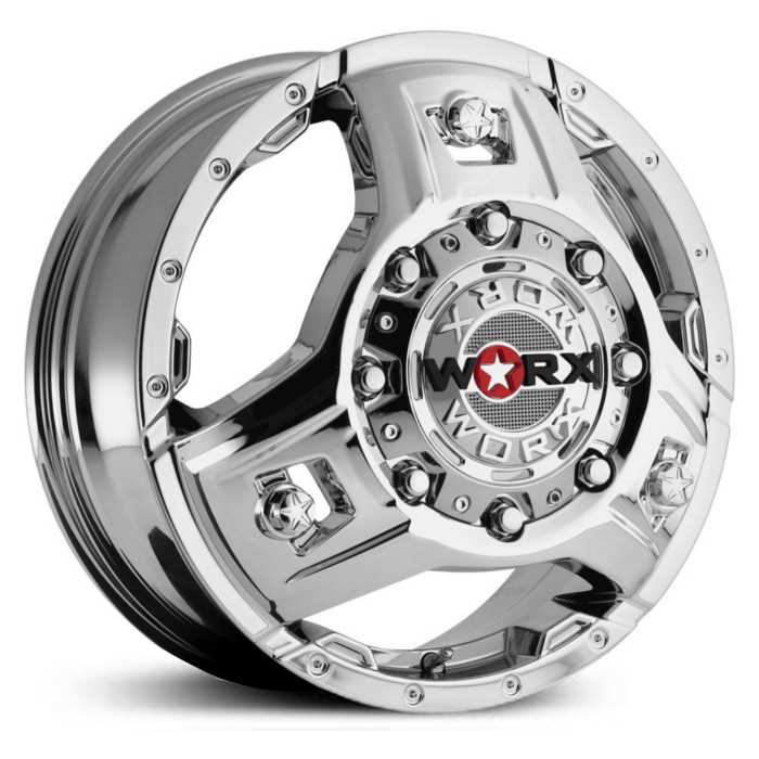 Worx Alloy 801C Triad Dually  Wheels Chrome