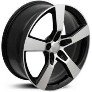 Chevy Camaro SS CV11  Rims Machined Black