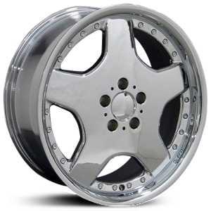 Mercedes 17x7 5 benz amg mb06 chrome hpo wheels rims for Chrome rims for mercedes benz