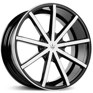 Verde V69 Contra  Wheels Gloss Black/Machined Face