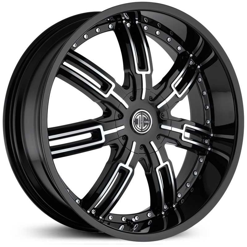2Crave No 27  Wheels Glossy Black/Machined Face