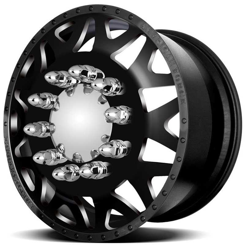 American Force Dually BAUS  Wheels Black Textured-Machined Windows