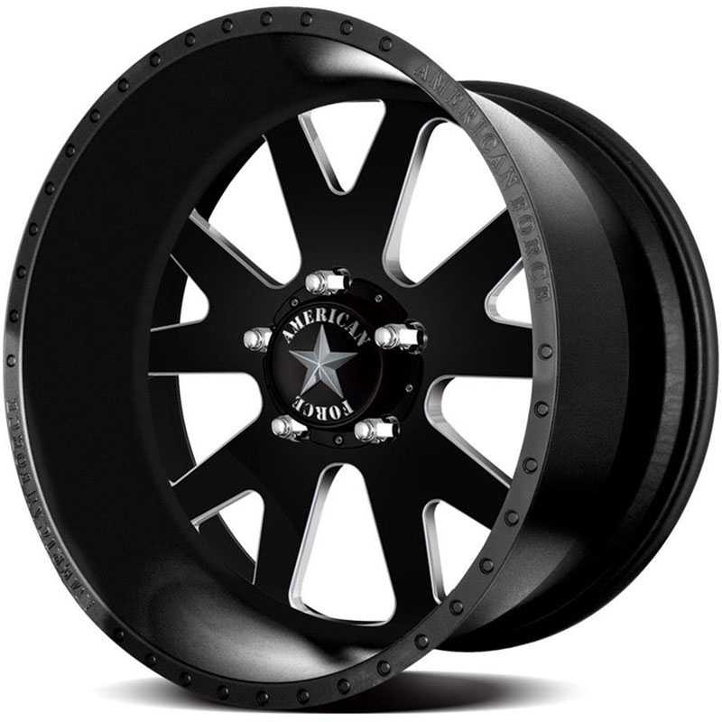 American Force BAUS SS5  Wheels Black Textured-Machined Windows