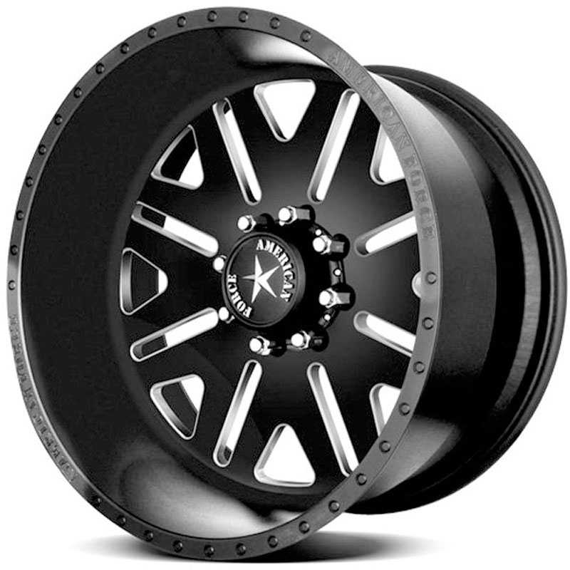 American Force BAUS SS8  Wheels Black Textured-Machined Windows