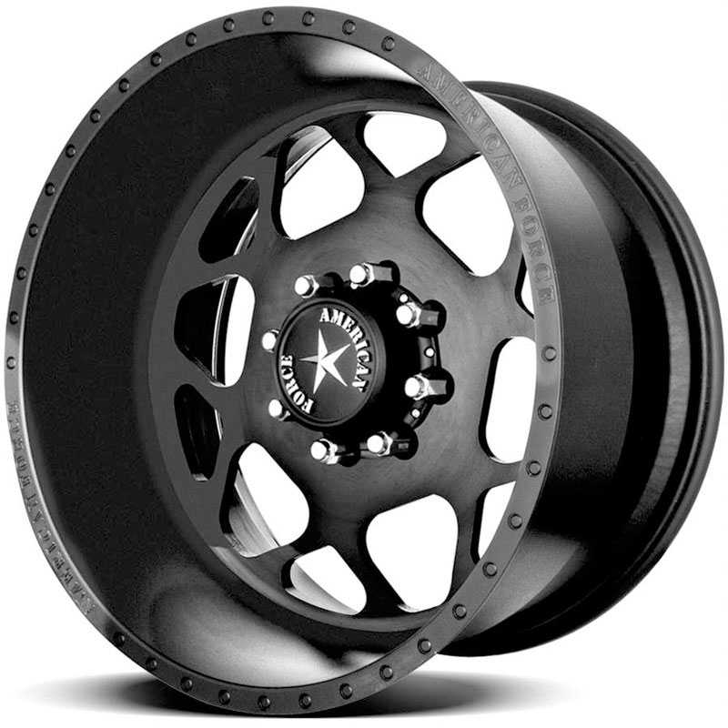 American Force BISON SS8  Wheels Black Flat-Solid