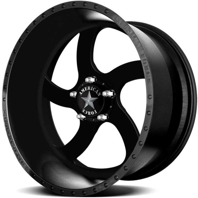 American Force BLADE SS5  Wheels Black Textured-Machined Windows