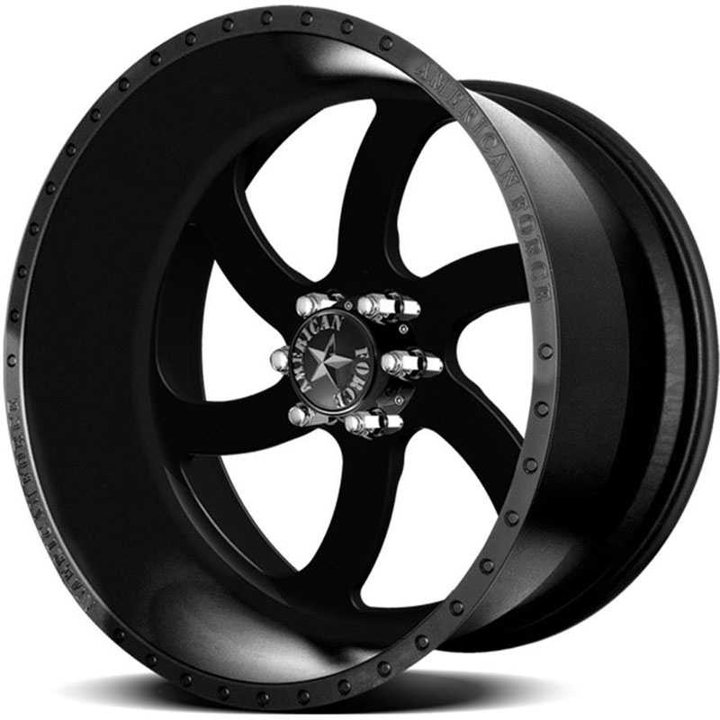 American Force BLADE SS6  Wheels Black Flat-Solid