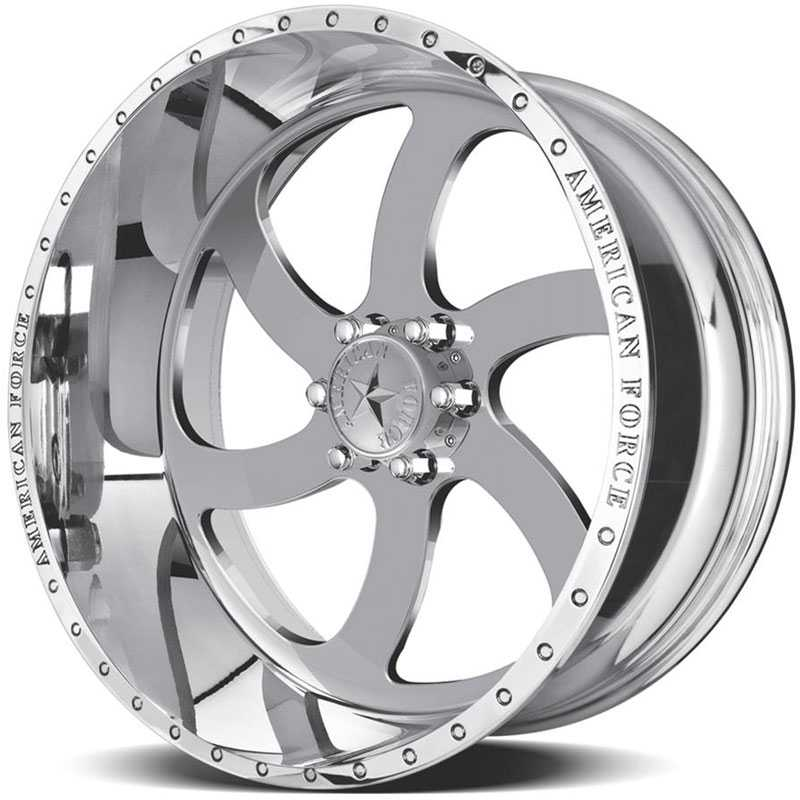 Hubcap Tire And Wheel >> 22x14 American Force Wheels Blade Ss6 Mirror Finish Polish Rev