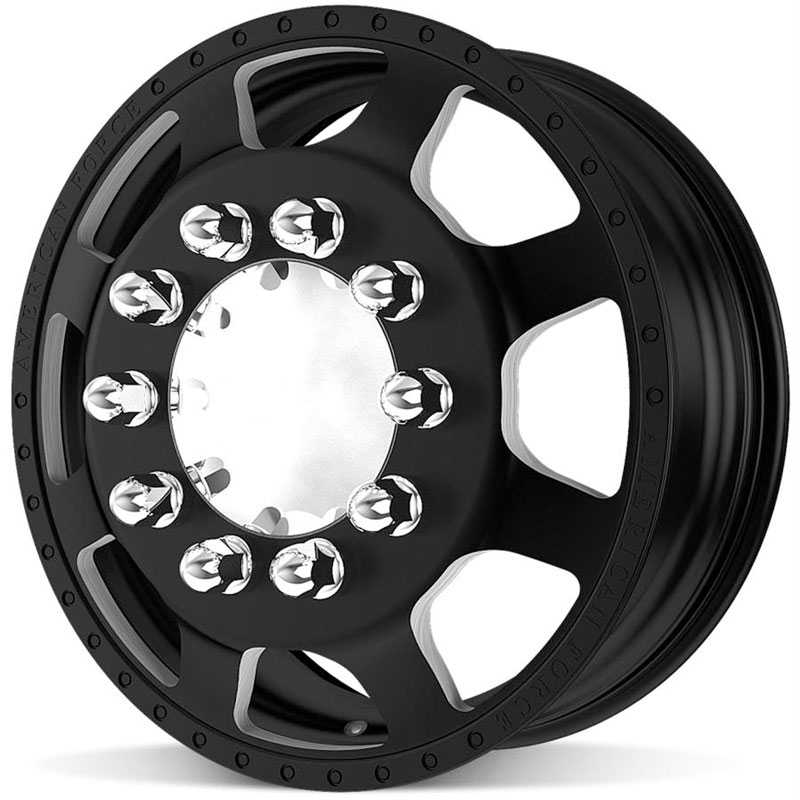 American Force Dually BLAST  Wheels Black Flat-Machined Windows