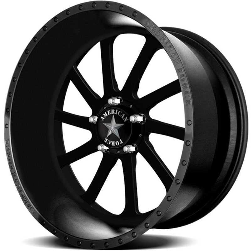 American Force BURNOUT SS5  Wheels Black Flat-Solid