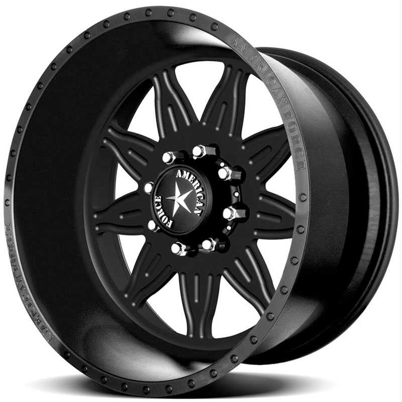 American Force BURST SS8  Wheels Black Flat-Solid