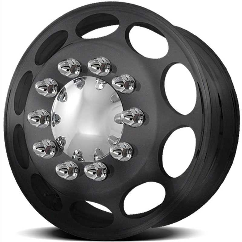 American Force Dually CALIBER  Wheels Black Textured-Machined Windows