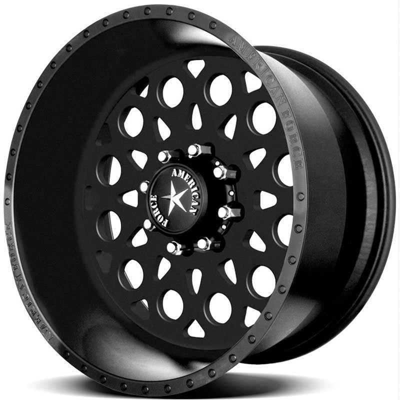 American Force CONFLICT SS8  Wheels Black Flat-Solid