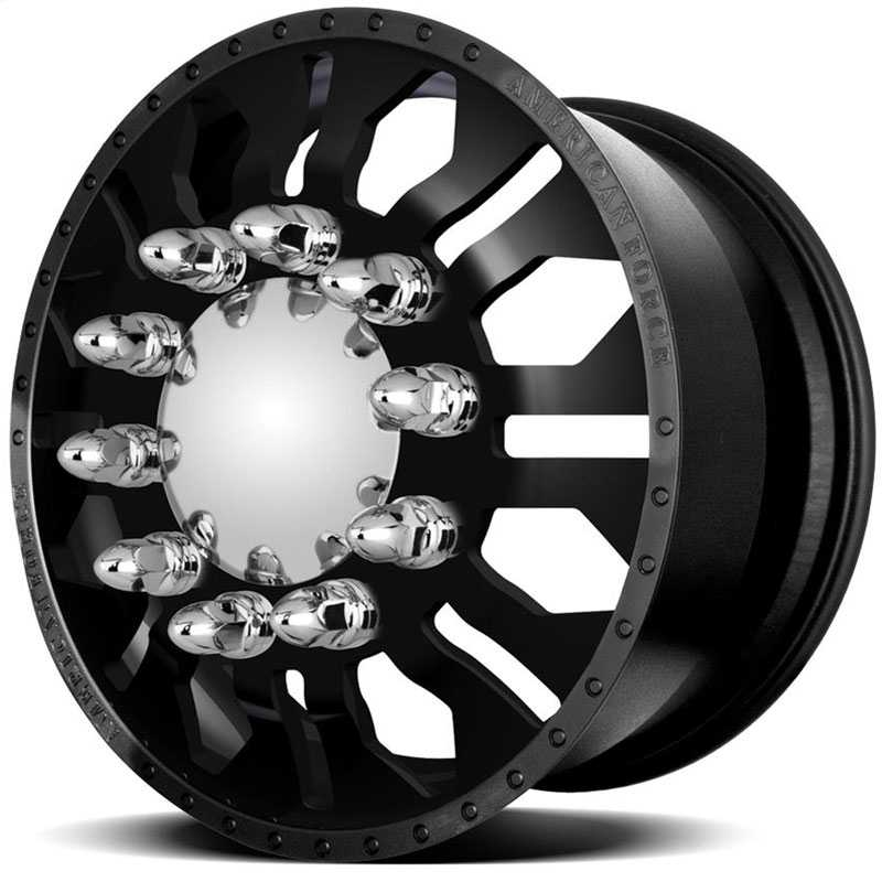 American Force Dually DIAMOND  Wheels Black Textured-Machined Windows