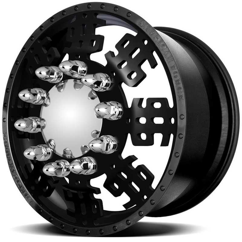 American Force Dually DOLLA  Wheels Black Flat-Solid
