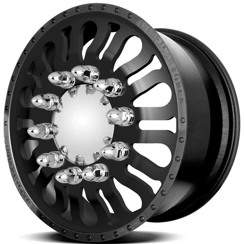 American Force Dually DRAG  Wheels Black Textured-Machined Windows