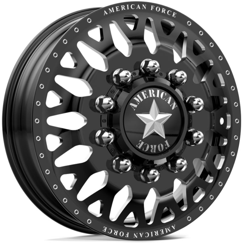 American Force Dually EVO  Wheels Black Flat-Solid