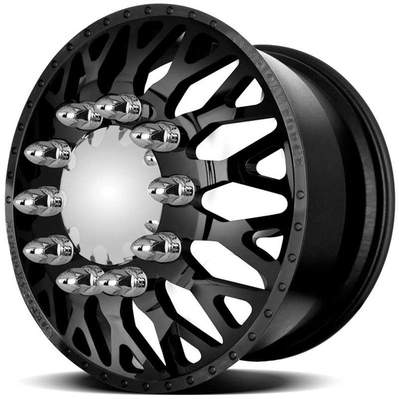 American Force Dually EVO  Wheels Black Textured-Solid