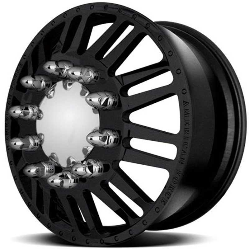 American Force Dually FREEDOM  Wheels Black Textured-Machined Windows