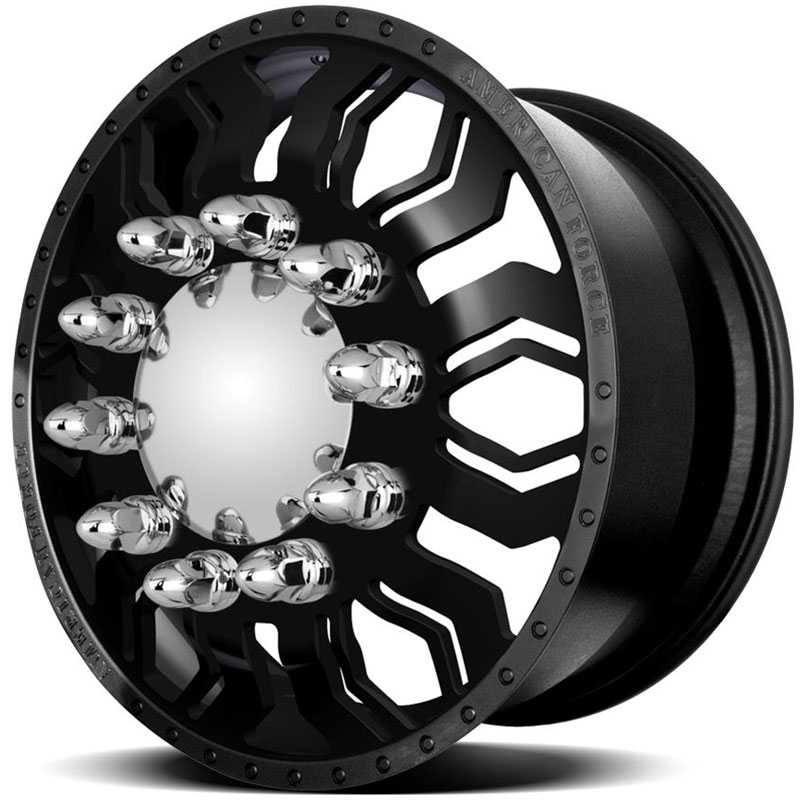 American Force Dually HAWK  Wheels Black Textured-Machined Windows