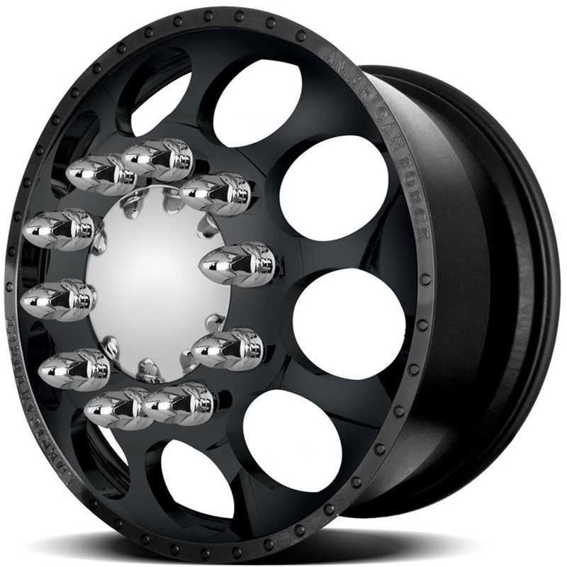 American Force Dually HOLES  Wheels Black Textured-Machined Windows