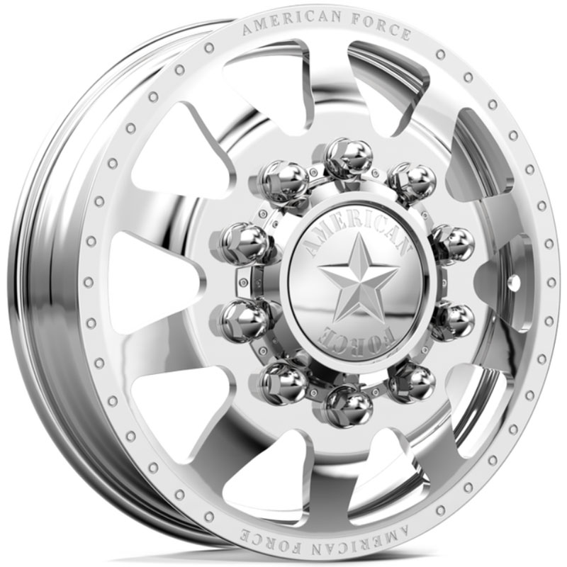 22 5x8 25 American Force Dually Independence Mirror Finish Polish Hpo Wheels And Rims