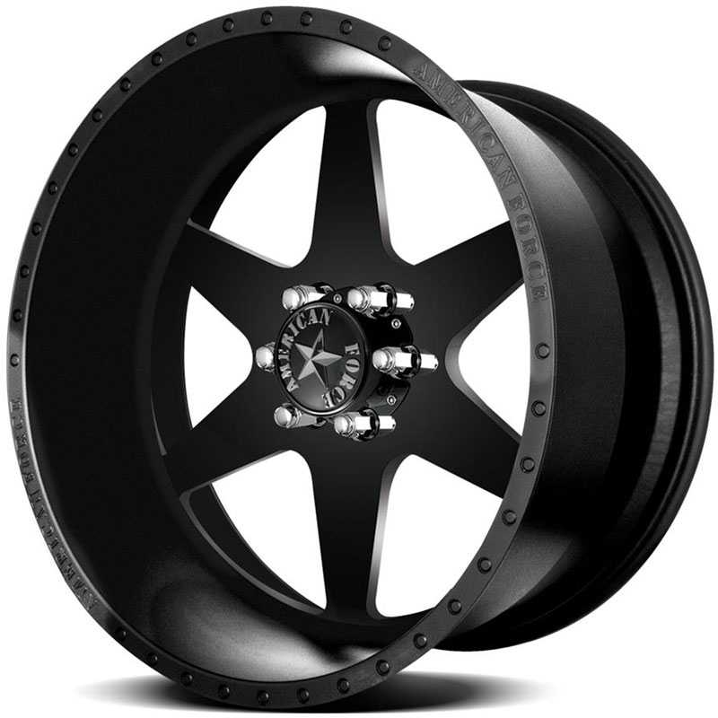 American Force INDEPENDENCE SS6  Wheels Black Flat-Machined Windows
