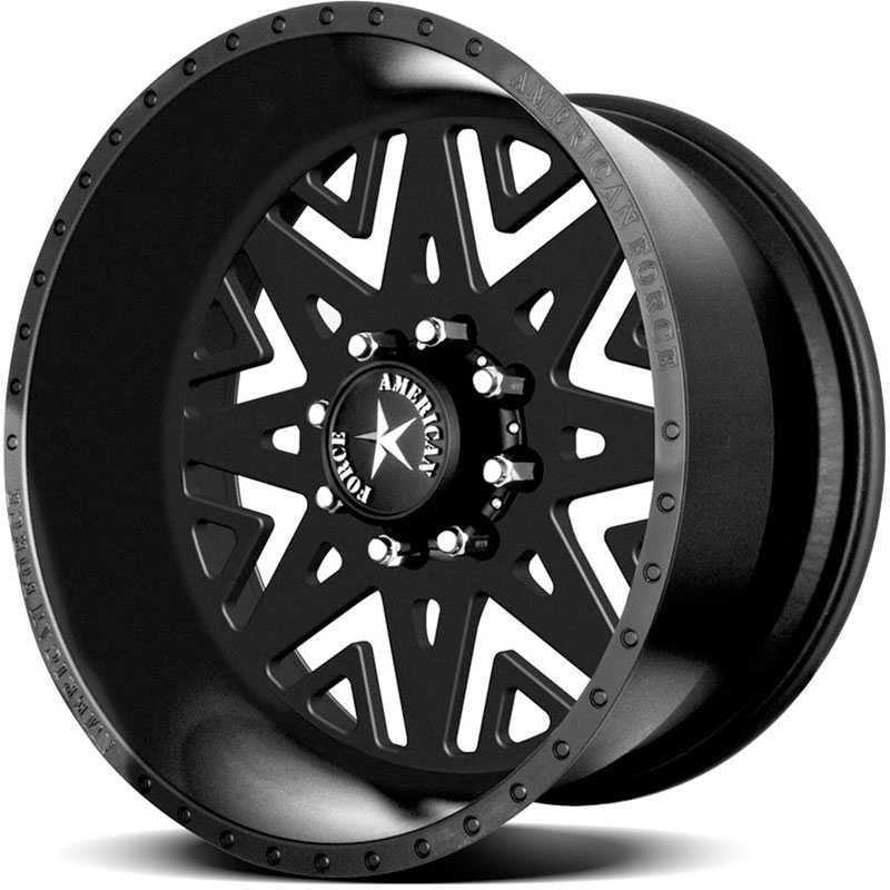 American Force INFERNO SS8  Wheels Black Flat-Solid
