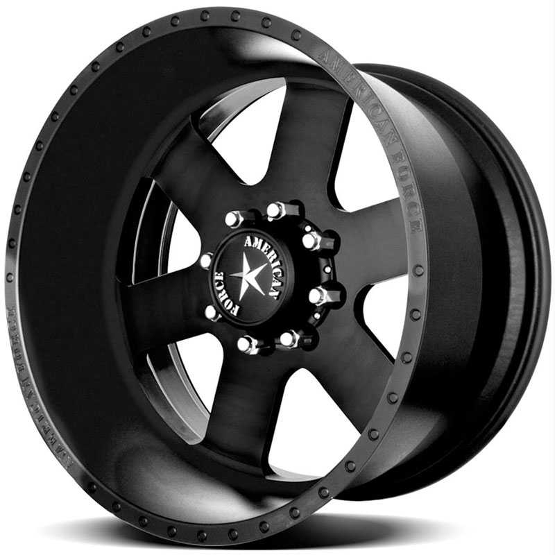 American Force JUDGE SS8  Wheels Black Flat-Solid
