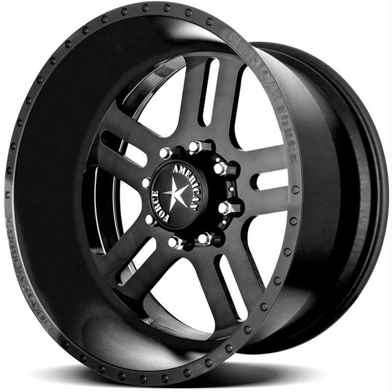 American Force JUSTICE SS8  Wheels Black Flat-Solid