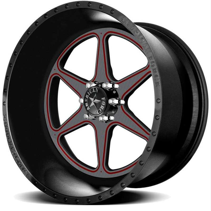 American Force MASTER FP6  Wheels Black Flat-Solid