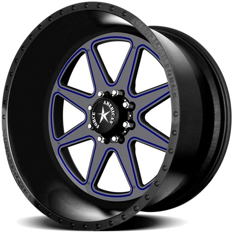 American Force MASTER FP8  Wheels Black Flat-Solid