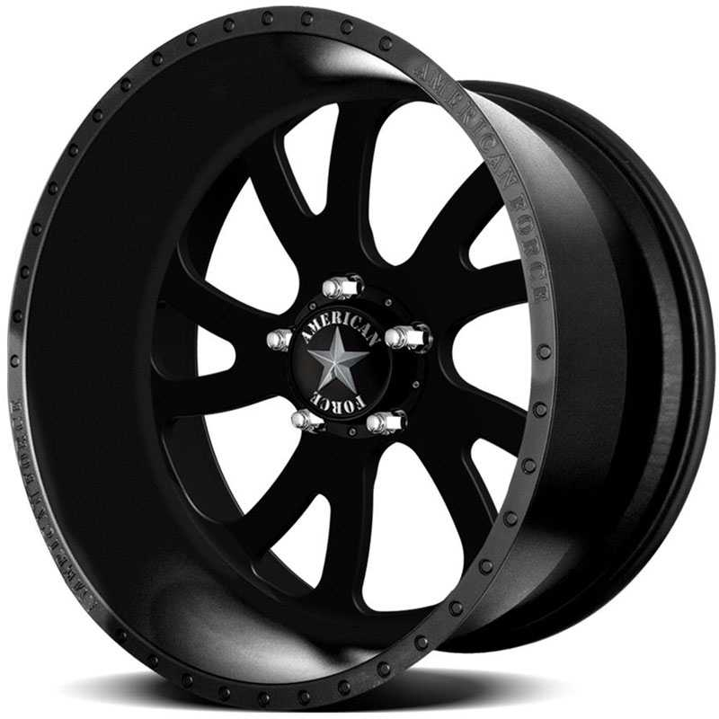 American Force OCTANE SS5  Wheels Black Flat-Solid