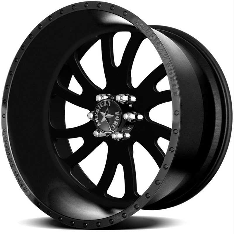 American Force OCTANE SS6  Wheels Black Flat-Solid