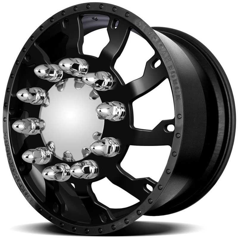 American Force Dually RAPTOR  Wheels Black Flat-Solid