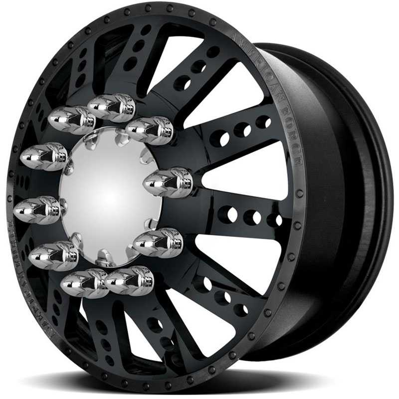 American Force Dually ROBUST  Wheels Black Textured-Machined Windows