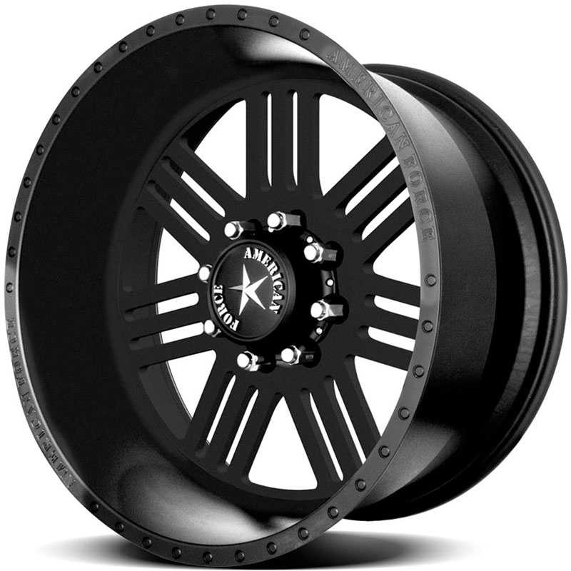 American Force RUSH SS8  Wheels Black Flat-Solid