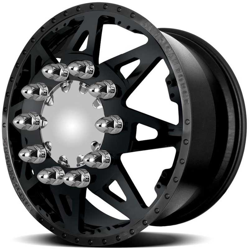 American Force Dually STARS  Wheels Black Textured-Solid