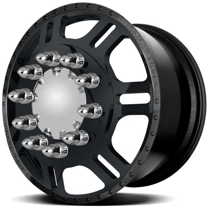 American Force Dually TILT  Wheels Black Textured-Solid